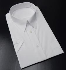 メーカー品■フレックス社■半袖ドレスシャツ■クールビズ■白/無地■形態安定■CAPO1 ワイシャツ