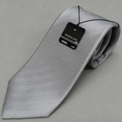 西陣織 ハンドメードネクタイ セッテピアゲ セブンホールド グレー ヘリンボーン シルク100% 日本縫製 NJ-ST04