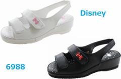 ナースサンダル ディズニー Disney  6988 黒 白 オフィスサンダル(6988koma)