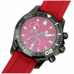 ビクトリノックス VICTORINOX SWISSARMY 時計 ダイブマスター500 クオーツ 赤【中古】(32604)