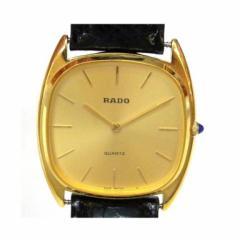 ラドー RADO レディースウォッチ 腕時計 クオーツ ベルト非純製品 121.9569.2 ゴールド文字盤×ブラック革ベルト レディ