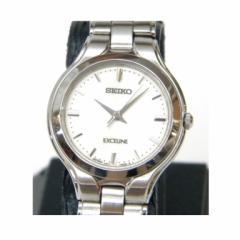 セイコー SEIKO レディース腕時計 エクセリーヌ クオーツ 4J41-0A50 アイボリー盤 ステンレススチール 【中古】(39383)