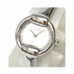 グッチ GUCCI レディース腕時計 クオーツ バングルウォッチ 1400L シルバー文字盤 /ステンレススチール 【中古】(39777)