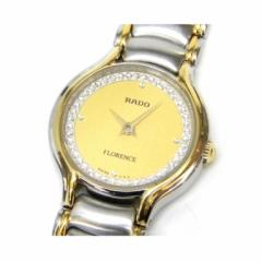 ラドー レディース腕時計 クオーツ フローレンス コンビカラー SS  204.3647.4 ゴールド盤【中古】(40328)