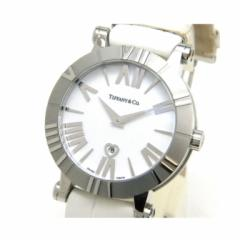 ティファニー TIFFANY&Co. レディースウォッチ 腕時計 クオーツ アトラス SS×クロコベルト  ATLAS 白 【中古】(40571)