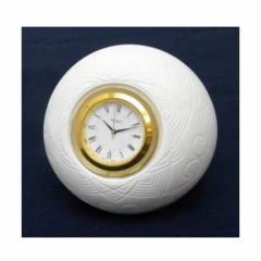 和光 WAKO 置き時計 クオーツ 陶磁器 NK007 白 【中古】(41649)