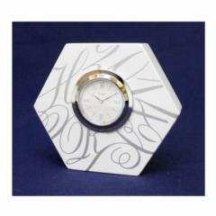 和光 WAKO 置き時計 ヘキサゴン AP004W 白 【中古】(42002)