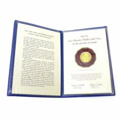 フランクリンミント パナマ共和国 1975年100バルボア金貨 /K21.6 8.16g(43472)