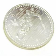 H10 長野オリンピック 記念硬貨 5千円銀貨 パラリンピック滑降 【中古】(43983)