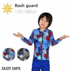 ザジーザップス Zazzy Zaps  スイムウェア ラッシュパーカー ラッシュガード  デニム 水着 長袖 前開き  (100/110/120/130/140cm