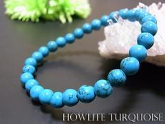 数珠 ブレスレット ハウライトターコイズ(ブルー...