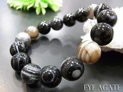 数珠 ブレスレット 天眼石[しまメノウ]ブレス12MM...