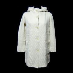 Le Glazik ベージュ フード付キルティングマリンコート・ジャケット (ル グラジック フランス製) 029033