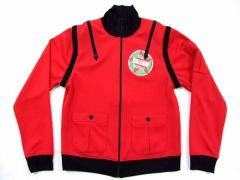RALEIGH ジップ ライダースジャージジャケット Red「PUNK」Zip RIDERS jersey jacket ラリー 031043