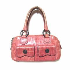 廃盤 ANNA SUI ピンクプリンセスクロコダイル柄総レザーバッグ pink princess crocodile leather bag (アナスイ) 032826