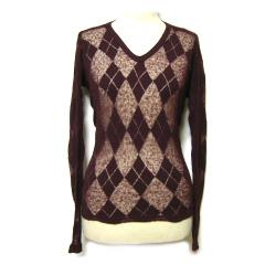 Anglomania Vivienne Westwood ITALY アーガイルチェックシースルーカットソー argyle check disign cut so (ヴィヴィアンウエ 033089