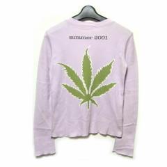 lucien pellat-finet マリファナ カシミアコットンTシャツ marihuana cashmere cotton T-shirt (ルシアンペラフィネ) 034131