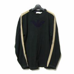 EMPORIO ARMANI エンブレム ライン入ロングスリーブTシャツ emblem long sleeve T-shirt (エンポリオ アルマーニ) 035120