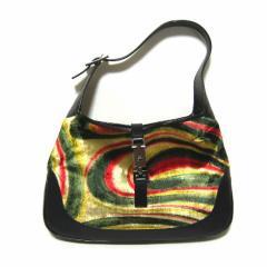 GUCCI ITALY オールドファブリックレザージャッキーバッグ old fabric jackie bag (グッチ) 035392【中古】