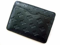 廃盤 PATRICK COX パトリックコックス エンボスモノグラム レザーパスケース (カードケース 財布) 035400