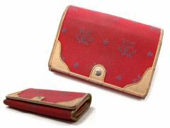 KEITA MARUYAMA エスニックステッチ レザー使い折財布 ウォレット Ethnical stitch wallet ケイタマルヤマ 035855