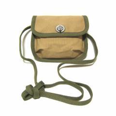 vintage 旧 一澤帆布製「国防色」2wayキャンバスショルダーバッグ・ウエストポーチ・財布 canvas shoulder bag (ヴィンテ 036336
