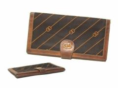 vintage old GUCCI クラシックレトロモノグラムレザーウォレット・長財布 (ヴィンテージオールド グッチ) 036358