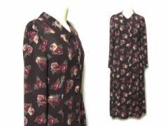 新品同様 Lest ROSE Aラインニューローズ薔薇ドレープワンピース A-line new rose drape dress (レストローズ) 036875