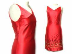 TOCCA コードヤーン刺繍ドレスワンピース red embroidery dress (トッカ) 036945