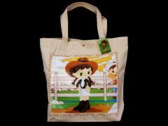 【新品】廃盤 レコスケ&レコガール 香港限定キャンバス帆布トートバッグ (本秀康 もとひでやす) 037307