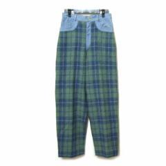 1988s vintage Vivienne Westwood×HarisTweed Englandデニム×ツィード切替パンツ denim×tweed pants (ハリスツィード MA 039724