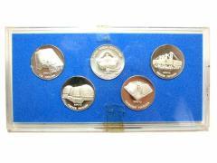 Vintage EXPO70 大阪万博 フランス、アメリカ、カナダ、日本パビリオン記念メダル 5個セット 040060