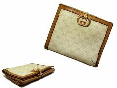 vintage old GUCCI ITALY クラシックマイクロモノグラム 折財布 ウォレット (ヴィンテージオールド グッチ) 040636