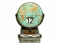 Vintage EXPO 70 大阪万博 世界 地球儀 日めくり万年パタパタ卓上カレンダー (昭和レトロ エキスポ ヴィンテージ) 041036