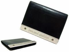 廃盤 Jean Paul GAULTIER ジャンポールゴルチエ 名作 メタルプレート レザーパスケース (ゴルチェ カードケース) 041401