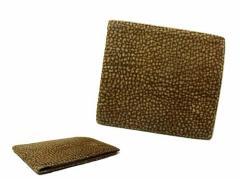 Borbonese ITALY バーズアイ模様ソフトレザー折財布 (Soft leather wallet) ボルボネーゼ ウォレット 042555