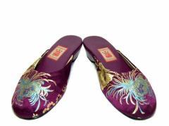 小花園 チャイナ刺繍シャンタンサンダル (China embroidery Shandan sandals) シューズ ミュール 043674