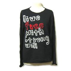 COMME des GARCONS コムデギャルソン 2010「M」路面店限定 live free with Strong will ニットセーター (長袖 カットソー) 044494