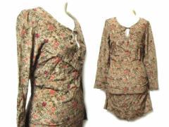 abnes b.「36」アンティークフラワーキルトシルクワンピース (antique flower kilt silk one-piece) ドレス アニエスベー4 045239