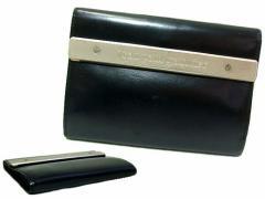 廃盤 Jean Paul GAULTIER ジャンポールゴルチエ メタルプレートレザー折財布 (ゴルチェ ウォレット) 045938
