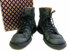 廃盤 PATRICK COX パトリックコックス「7 1/2」黒ミリタリー 7ホール オイルドレザーブーツ (靴シューズ) 046598