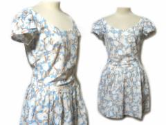 agnes b. France「38」クラシックフラワー柄ワンピース・ドレス (classic flower pattern one-piece) アニエスベー 046657