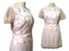 TOCCA「2」ベイビーピンクプリンセスフラワーレースドレスワンピース (pink flower lace dress one-piece) トッカ 046789