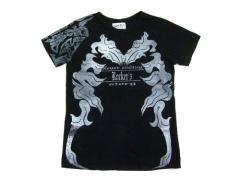rockers H baby「h.naoto」黒悪魔トライバルTシャツ (ロッカーズエイチベイビー エイチナオト) 046819