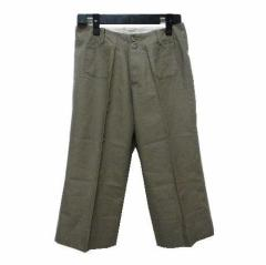 T for two リネンクロップド丈ワークパンツ (Linen cropped length work pants) ティーフォートゥー 046881