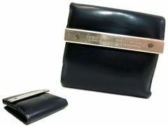 廃盤 Jean Paul GAULTIER ジャンポールゴルチエ メタルプレートレザー折財布 (ゴルチェ ウォレット) 047391