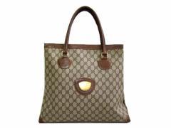 vintage old GUCCI クラシックモノグラムトートバッグ (classical GG monogram tote bag) ヴィンテージ オールド グッチ 047543【中古】