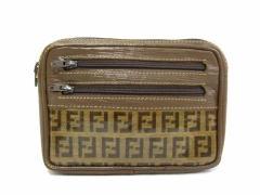 vintage old FENDI ヴィンテージオールド フェンディ クラシックズッカモノグラムポーチ (鞄カバン セカンドバッグ) 047698