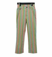 MOSCHINO JEANS ITALY「26」ヒッピーストライプパンツ (Hippie stripe trousers) モスキーノジーンズ 048100
