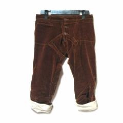 nemeth check pattern velvet pants ネメス ハンドチェック柄 ベルベット 立体 七分丈パンツ (クリストファーネメス) 048112
